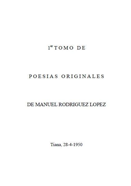 Primeiras Poesías