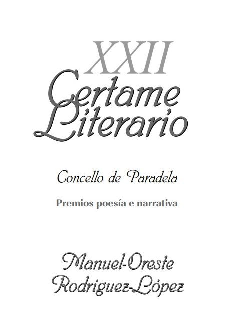 XXII Certame Literario de Paradela