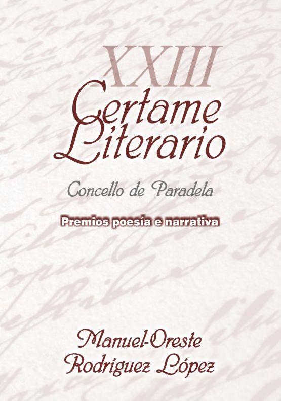 XXIII Certame Literario Concello de Paradela
