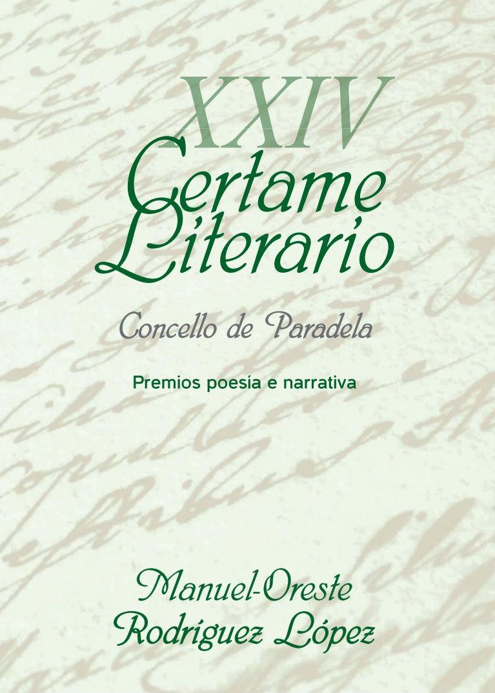 XXIV Certame Literario de Paradela